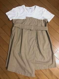 連身裙子 👗 (T 恤裙連腰帶) 2 way tshirt dress /op one-piece