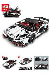 LEPIN Technic Dream Car Series 23006 The Lamborghini Veneno Sports Car Set Building Blocks