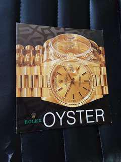 Rolex 1989 Watch Catalog Reference Book all models