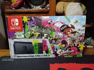 Nintendo Switch Limited Edition Splatoon Jailbreak Already with 128gb full of games