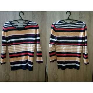 Zara stripe knitted top