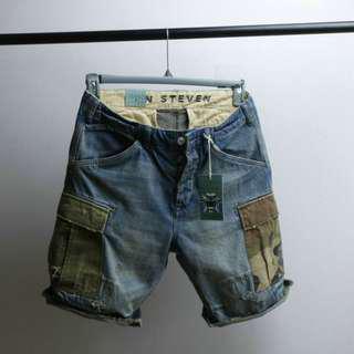 男裝日系重洗水牛仔短褲