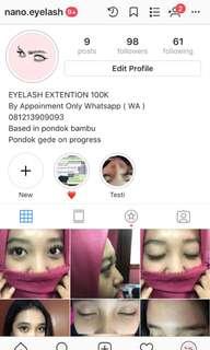 Eyelash extention 100ribu