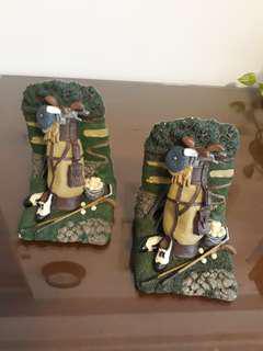 Golf Themed pair of Bookstands