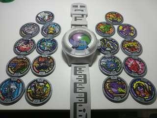 $98全走 日版 妖怪手錶Yokai Watch日版 零式 連妖怪徽章 18個 無重複 B set 購自日本
