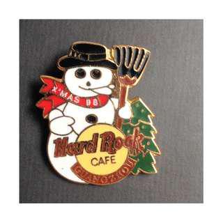Hard Rock Cafe GUANGZHOU 1998 CHRISTMAS PIN - SNOWMAN