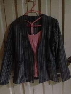 Formal stripes coat