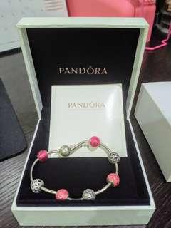 Pandora Essence Bracelet with 8 beads & charms