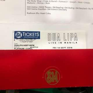 Dua Lipa in Manila — Platinum ticket