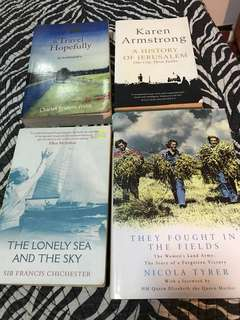 """🚚 To travel hopefully, karen armstrong a history of Jerusalem, Nicola Tyrer """"they fought in the fields""""  the lonely see and the sky"""