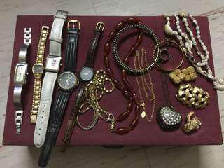 bundle watches and jewelries US fashion