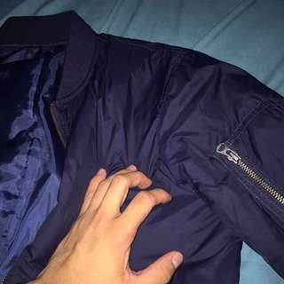 Uniqlo Navy Blue Bomber Jacket XS
