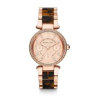DARCI ROSE GOLD DIAL TWO TONE STAINLESS STEEL LADIES WATCH MK5881