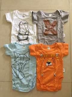 (FREE NM) Baby Romper 4pcs size 9-12M