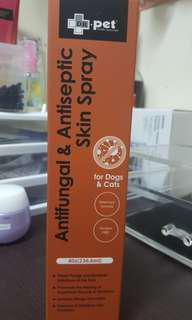 atifungal and antiseptic skin spray for dogs and cats