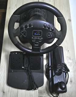 Speed Racing Wheel For PS2 Game + Hand Break + Paddle Drive And Break