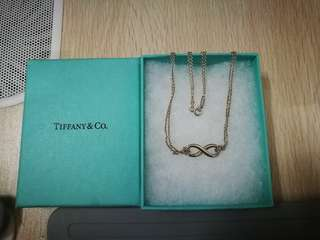 Tiffany infinity love necklace with free postage