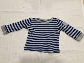 Baby Guess Boy's Long Sleeve Striped T-shirt