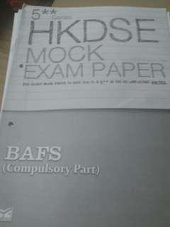 HKDSE mock exam paper BAFS