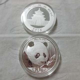 2018 中國 熊貓 銀幣 Silver Coin