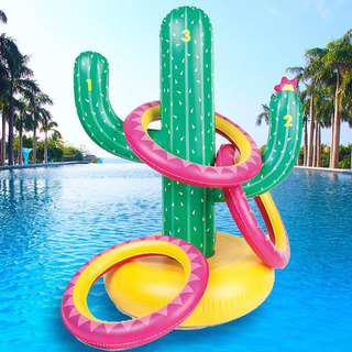 Sunnylife Inflatable Ring Toss Cactoss Cactus Pool Game