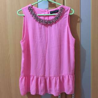 Dorothy Perkins Pink studded blouse