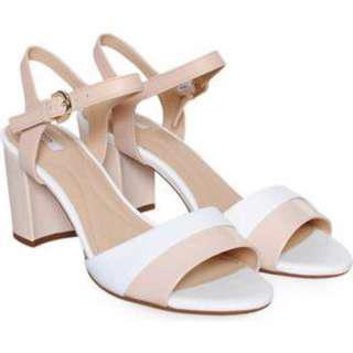 Geox Nude Block Heels Sandals