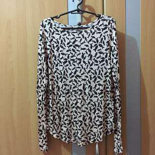 H&M long sleeves cotton blouse