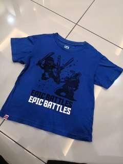 Uniqlo Blue Shirt(4-5t)