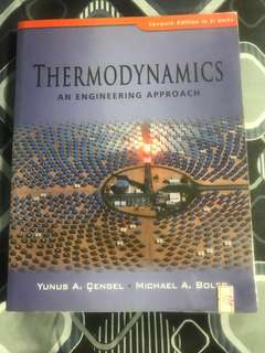 Thermodynamics (An Engineering Approach)