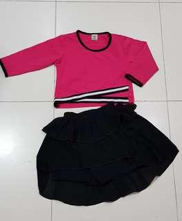 🚚 Girl cheerleading-like set
