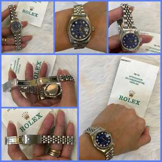 Rolex Datejust Ladies with Diamonds and Blue Rare Face
