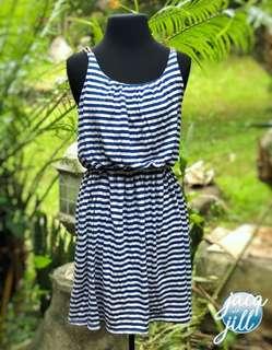 Blue-stripped dress