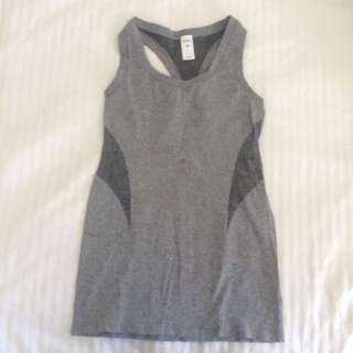 Grey running top