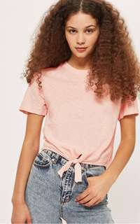 Topshop Pink Cropped Tshirt