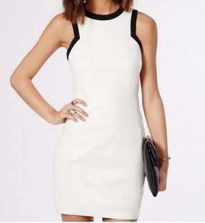 Missguided White Faux Leather Dress