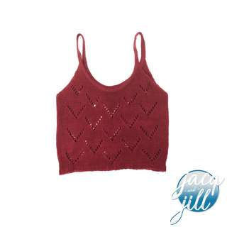 Deep red cropped top