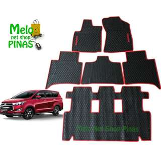 Toyota Innova 2016-2018 Premium Rubber Floor Matting 6pcs (Red Lining)