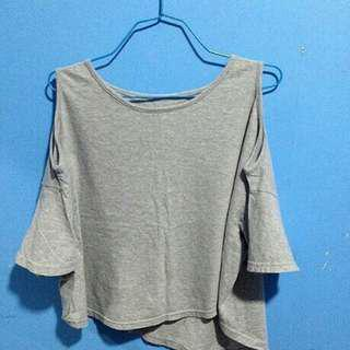 Gray semi off shoulder