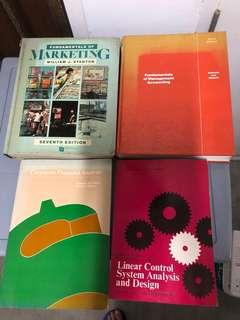 Various used textbook