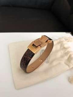 Fossil Giraffe Printed Leather Bracelet