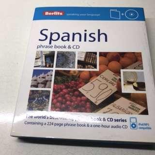 Berlitz Spanish phrase book and cd