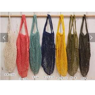 日本直送!百搭編織漁網袋