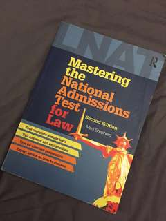 Mastering the National Admissions Test for Law by Mark Shepard - LNAT Textbook