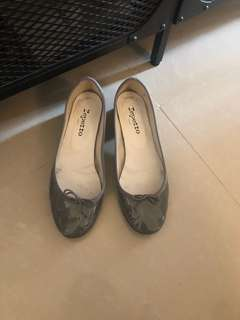 Repetto Grey Patent Shoes