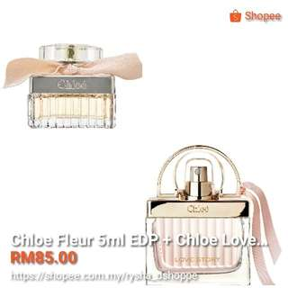 COMBO Chloe Fleur 5ml EDP + Chloe Love Story 7.5ml EDT