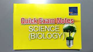 Exam Notes for O Level Science Biology