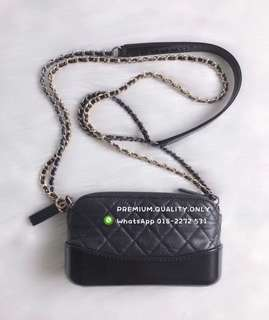 Chanel Pouch with Chain in Black