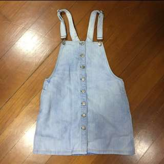 6ixty 8ight 淺藍牛仔工人裙