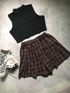 Skirt 5 - Checkered School Girl Skirt/Skort